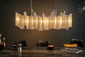 details zu design pendelleuchte in silber metall ketten 118cm lang esszimmer le hängend