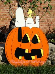 Snoopy Pumpkin Carving Kit by Snoopy Halloween Yard Art Decorationssnoopypeanuts Halloween