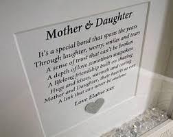 Mother And Daughter Keepsake Gift Frame Mums Birthday