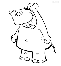 Hippo Cartoon Coloring Pages