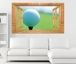 3d wandtattoo golfball golf abschlag sport fenster wandbild wohnzimmer wand aufkleber 11l1830 3dwandtattoo24 de