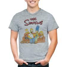 Halloween Maternity Shirts Walmart by Simpsons Men U0027s Bart Group Shot Graphic Short Sleeve T Shirt
