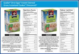 QuakerR Dino EggsR Instant Oatmeal