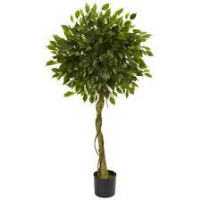 Nearly Natural 5 Ft UV Resistant IndoorOutdoor Ficus Artificial