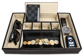 mens leather dresser valet dapper effects valet tray organizer for desk dresser