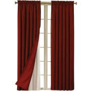 Room Darkening Curtain Liners by Eclipse Blackout Thermaliner Curtain Panels Set Of 2 Walmart Com