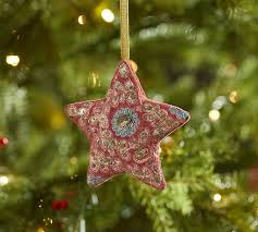 Sabyasachi Ornament Red Embroidered Star