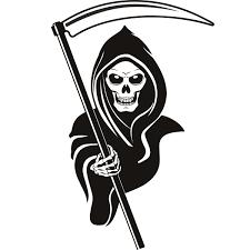 Printable Grim Reaper Pumpkin Stencils grim reaper hood halloween wall art stickers wall decals transfers
