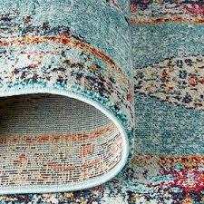 amazon com rivet distressed color medallion rug 5 x 7 8 navy