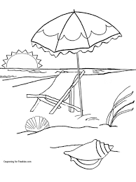 Beach Coloring Pages Page Free Printable For Kids Disney