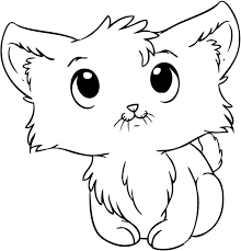 Christmas Kitten Coloring Pages Alltoys For