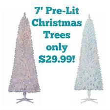 White Christmas Trees Walmart by Walmart 7 U0027 Pre Lit Artificial Christmas Tree Only 29 99