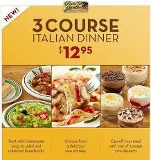 Olive Garden Dinner Deal 2013 3 Course Meal For $12 95