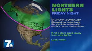 Northern Lights may be visible in Virginia Friday night