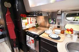 Rv Kitchen Storage Ideas Inside An Travel Trailer Modern Interiors Decorating A