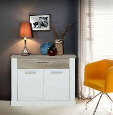 details zu kommode 101cm pinie weiß eiche antik sideboard wohnzimmer modern 55033055