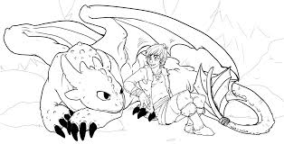 How To Train Your Dragon Coloring Pages Toothless And Hiccup