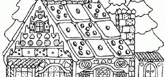 Gingerbread House Colouring Sheet