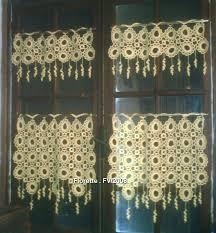 rideau de cuisine en gabarit modèle gratuit rideau crochet a faire