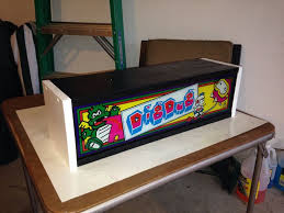 1982 Dig Dug Arcade Marquee I made a box that lights up to show