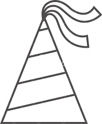 Outline Icon of Birthday Hat