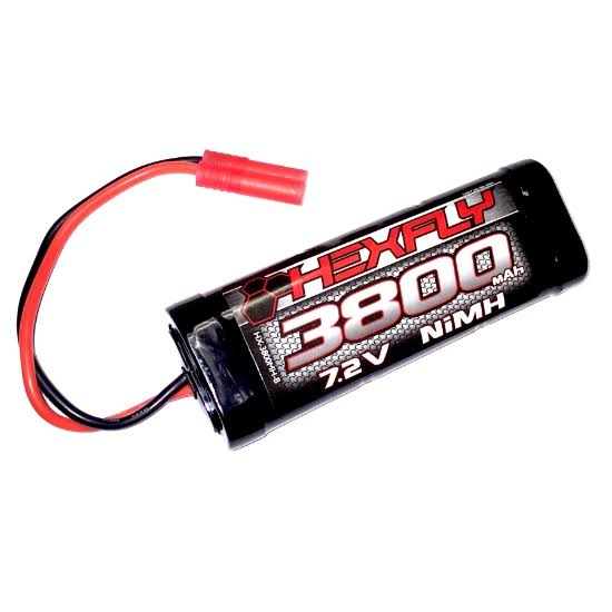 Redcat Racing HX-3800MH-B Version 4.0 Ni-MH Battery - 7.2V, 3800mAh, With Banana Connector