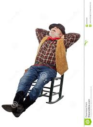 100 Cowboy In Rocking Chair Laughing Old Leans Back Stock Photo Image