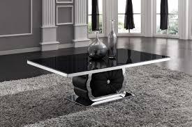 service de table moderne 8 table basse design noirchrome