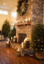 Big Warm Fireplace And Cozy Seating To Thaw Out From The Winters Snow ActivitiesChristmas Decorations