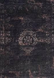 vintage teppich heintz farbe schwarz sand gefärbt gewebt schwarz beige