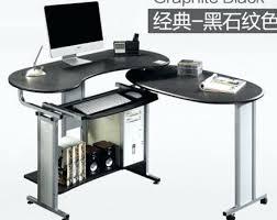 desk small metal corner desk walker edison glass metal black