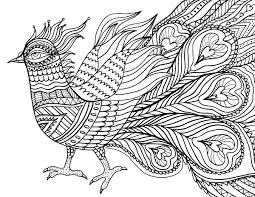 Free Printable Abstract Bird Adult Coloring Page Download It In PDF Format At