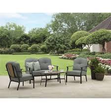 Affordable Outdoor Conversation Sets by Mainstays Rolling Oaks 4pc Conversation Set Walmart Com