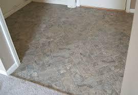 Groutable Vinyl Floor Tiles by Diy Herringbone Peel N Stick Tile Floor Grace Gumption