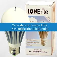 the ion brite anion light bulb cleans and purifies air go