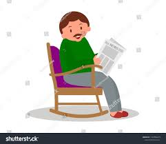 Man Sitting Rocking Chair Man Leisure Stock Vector (Royalty ... Happy Calm African Girl Resting Dreaming Sit In Comfortable Rocking Senior Man Sitting Chair Homely Wooden Cartoon Fniture John F Kennedy Sitting In Rocking Chair Salt And Pepper Woman Sitting Rocking Chair Reading Book Stock Photo Grandmother Her Grandchildren Pensive Lady Image Free Trial Bigstock Photos Hattie Fels Owen A Wicker Emmet Pregnant Young Using Mobile Library Of Rocker Free Stock Png Files