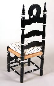 Tall Ladder Back Chairs With Rush Seats by Igavel Auctions Six Black U0026 White Hand Painted Ladderback Rush