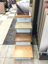 tiles wood stair nosing for ceramic tile image of cherry