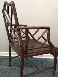 Pair Of Chinese Chippendale Faux Bamboo Dining Armchairs Bamboo Chippendale Chairs Small Set Of Eight Tall Back Black Faux Chinese Chinese Chippendale Florida Regency 57 Ding Table Vintage Six A Quick Living Room And Refresh Stripes Whimsy Side By Janneys Collection Chair Toronto For Sale Four