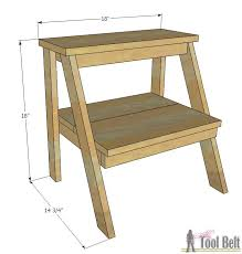 Plans For A Simple End Table by Kid U0027s Step Stool Her Tool Belt