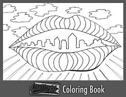 Free Coloring Book Page A City Of Lips