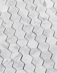 hexagon carrara marble tile polished 1 1inch diflart carrara marble