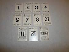 Part Only 1954 1958 Sorry Board Game Lot 11 Playing Card