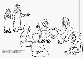 Clip Art Boy Jesus In The Temple Coloring Page Breadedcat Free At