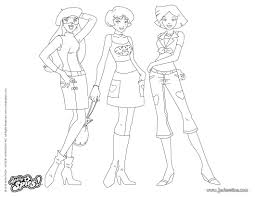 Totally Spies 10 Dessins Animés Coloriages à Imprimer