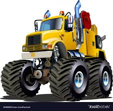 100 Tow Truck Vector Cartoon Monster ARENAWP