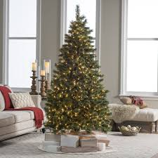 7 Ft Pre Lit Hard Needle Deluxe Cashmere Pine Christmas Tree By