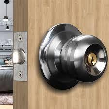 großhandel startseite türschlösser runde kugel privatsphäre türknauf set badezimmer griff schloss mit schlüssel für home tür hardware zubehör