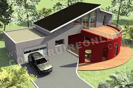 plan de maison moderne panoramix