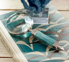Turquoise Bone Magnifying Glass